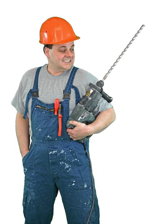 Construction Workers, Construction, Build, Hammer Drill