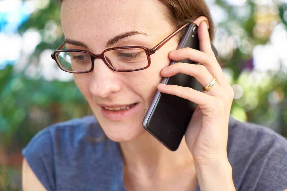 Woman, Phone, Talk, Contact, Laugh, Happy, Smartphone