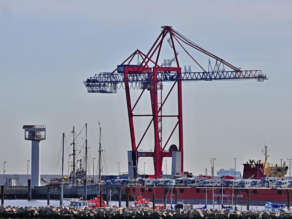 Container Crane, Transport, Destination Hamburg