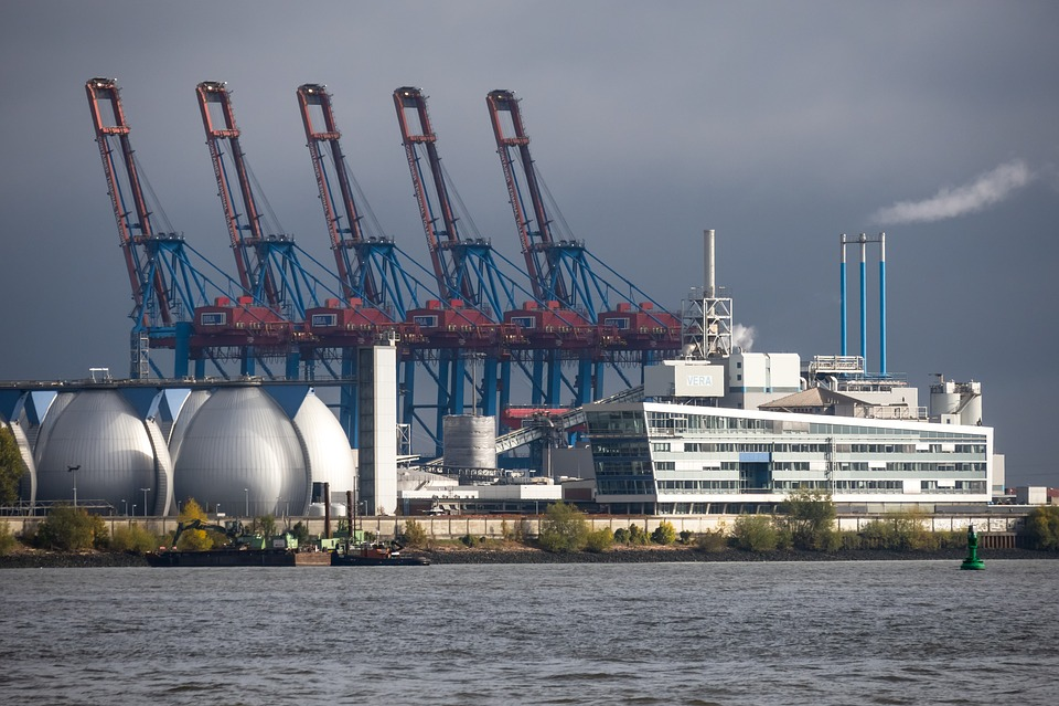 Container Cranes, Industry, Port, Harbour Cranes