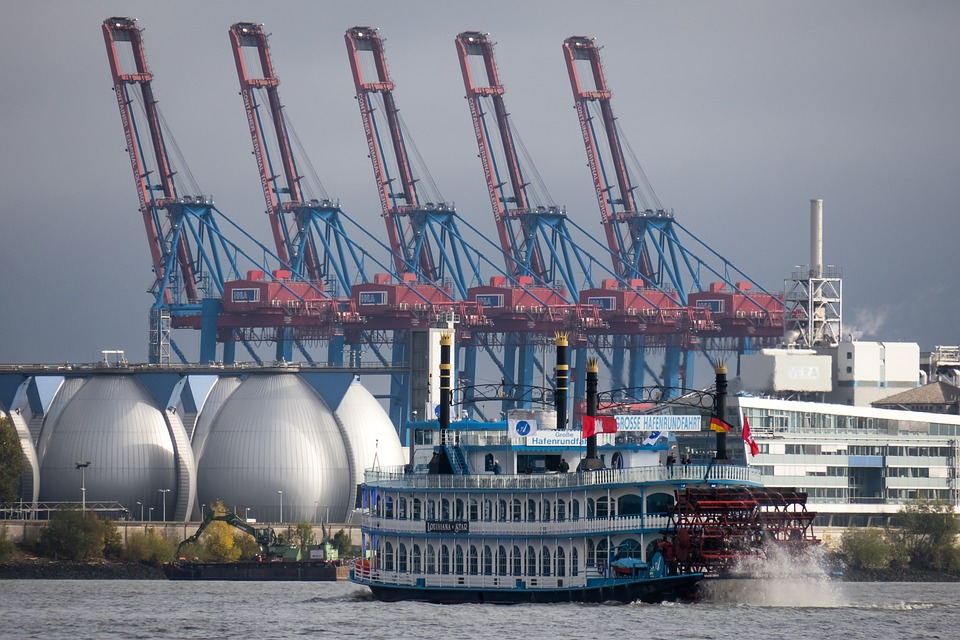 Container Cranes, Paddle Steamer, Paddle Steamers