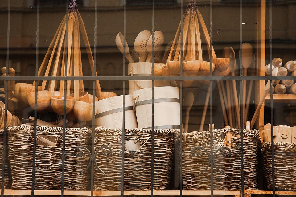 Basket, Container, Wood, Woods, Graze, Traditionally