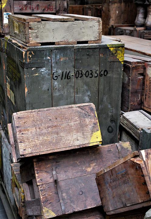 Container, Industry, Rusty, Old, Wood, Wooden Boxes