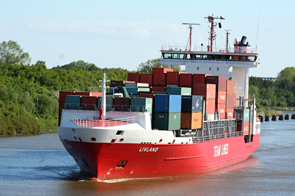 Container, Ship, Boot, Container Ship, Freighter