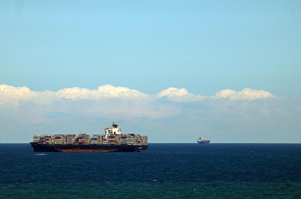 Ship On The Ocean, Ship, Container, Sea, Ocean, Water