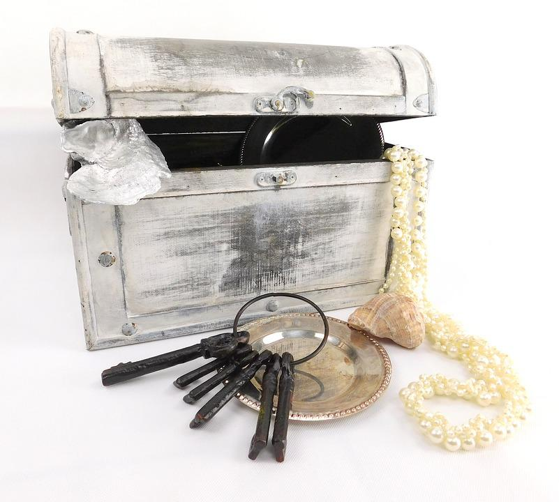 Treasure Chest, Key, Box, Container