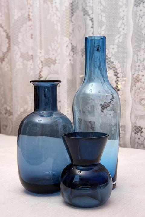 Container, Bottle, Vases, Blue, Blue Vases, Spetsgardin