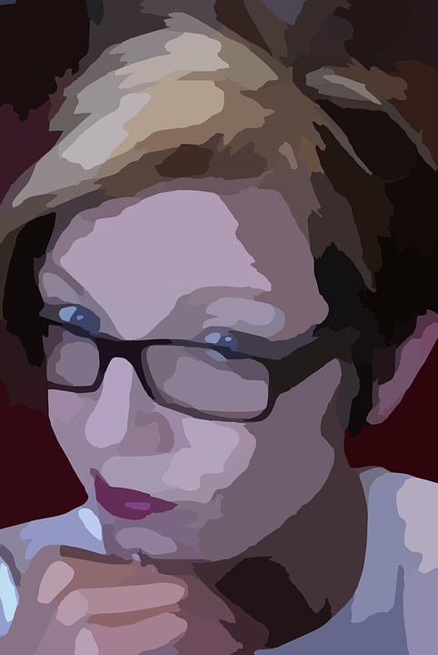 Woman, Glasses, Thinking, Contemplating, Contemplate