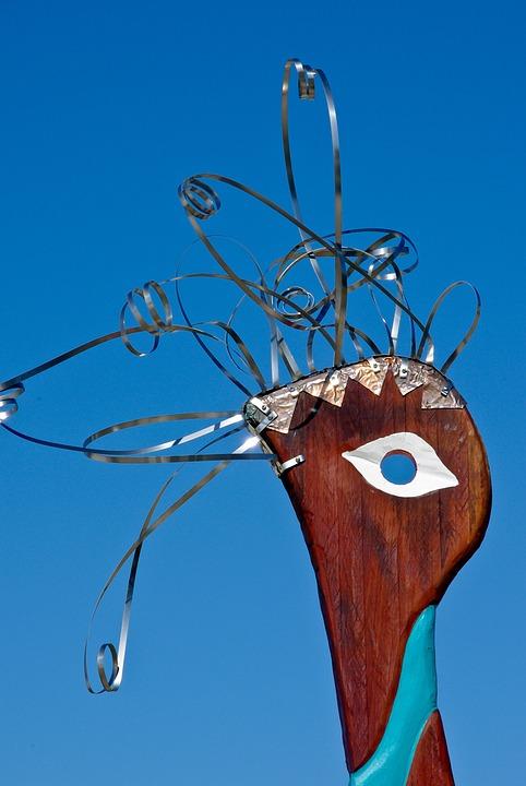 Free photo Contemporary Art Sculpture Eye Head Abstract Bird - Max Pixel