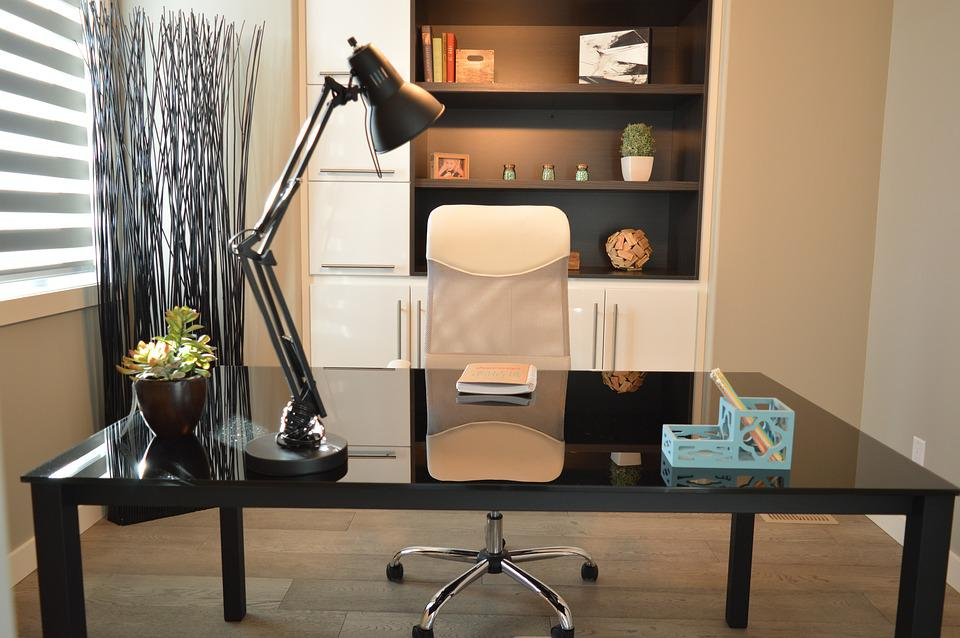 Office, Home, House, Desk, Chair, Lamp, Contemporary - Free Photo Contemporary Desk Lamp House Home Chair Office - Max Pixel