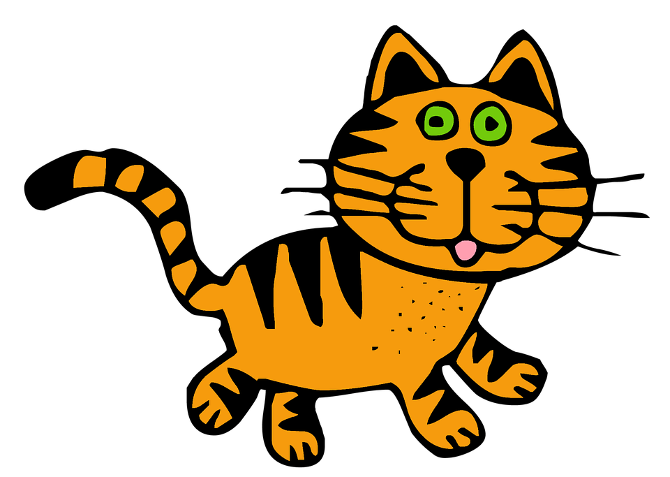 Cat, Tabby, Roux, Feline, Animal, Drawing, Content, Png