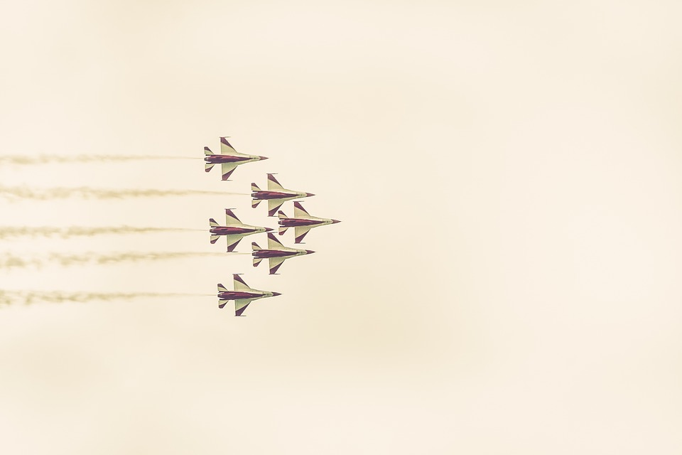 Jets, Airplanes, Contrails, Smoke, Sky, Flying