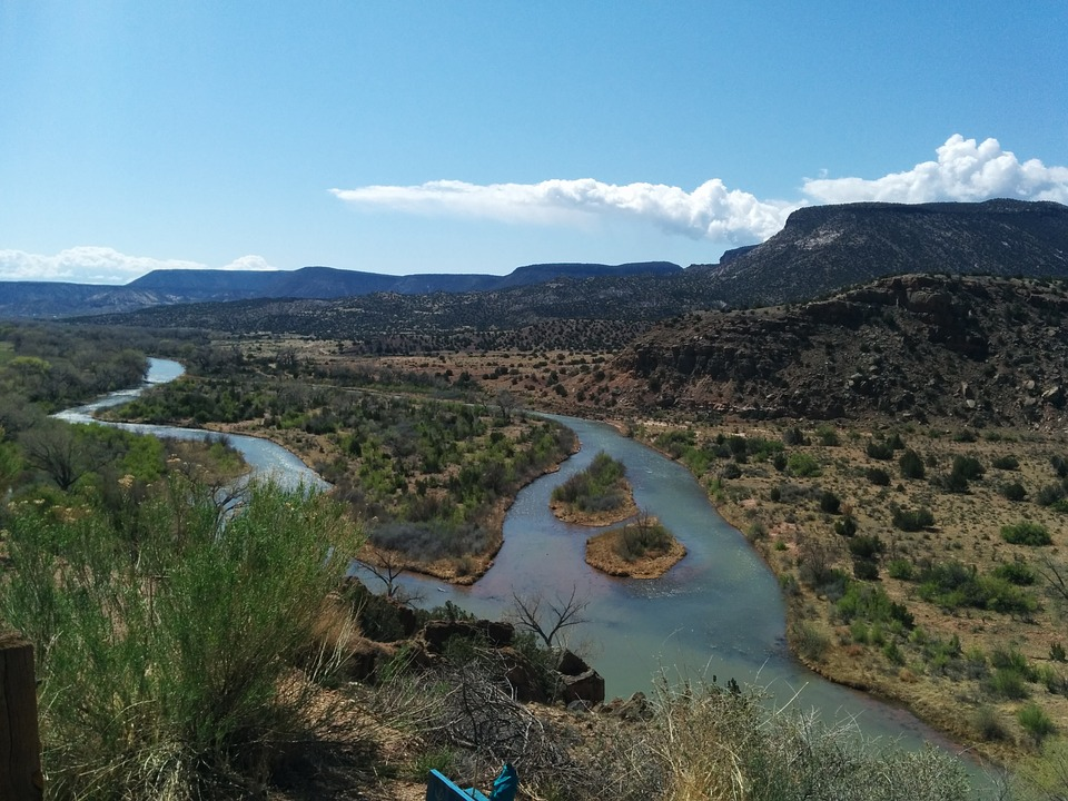 New Mexico, River, Chama River, Converge, Diverge
