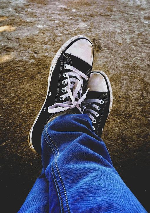 5a63b9f9ffd909 Free photo Converse Jeans Shoe Steps Blue Jeans Adventure - Max Pixel