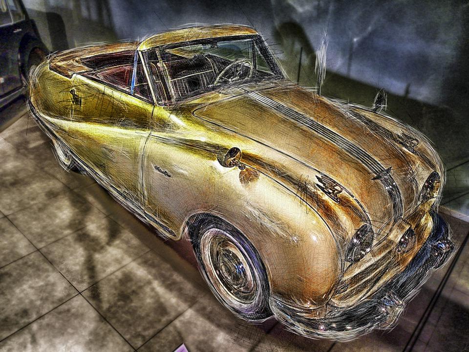 Austin, Convertible, 1949, Car, Automobile, Vehicle