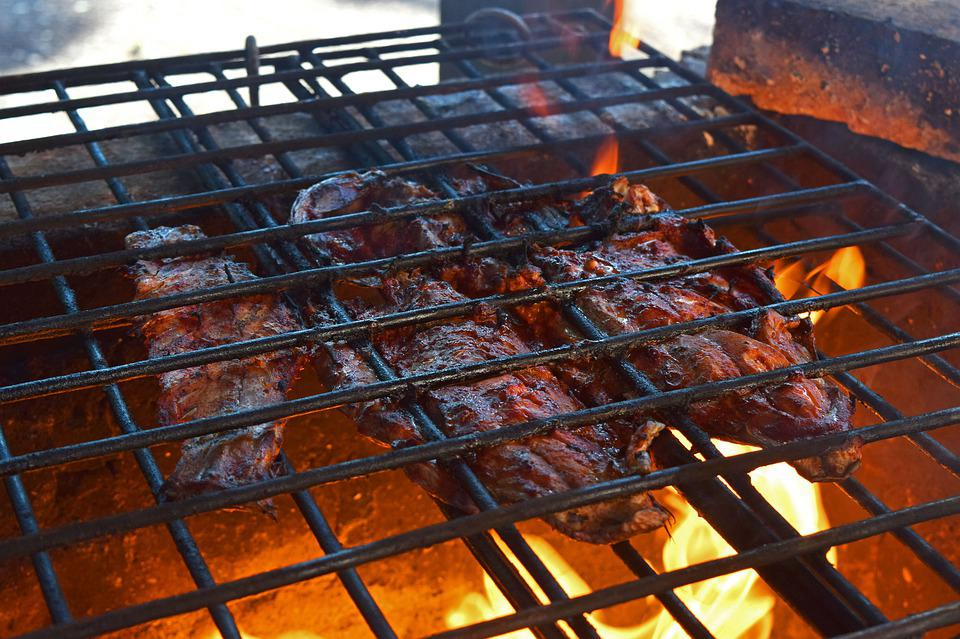 Fish, Buffeted, Fire, Roast, Hot, Meat, Grill, Cook