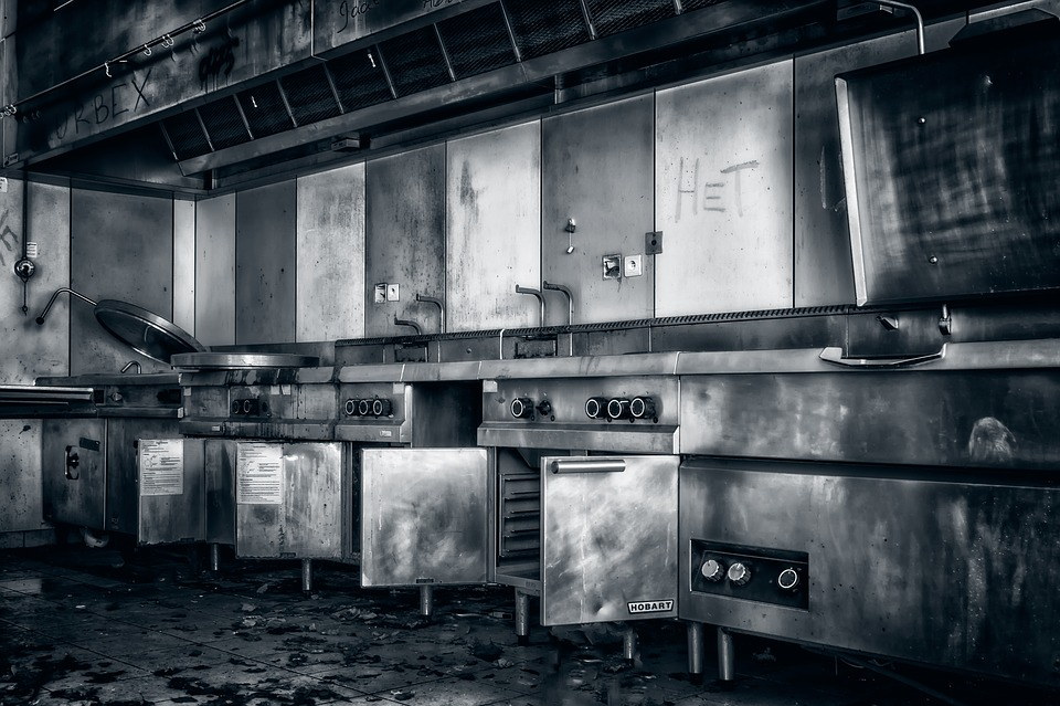 Kitchen, Cook, Lost Places, Open Kitchen, Large Kitchen