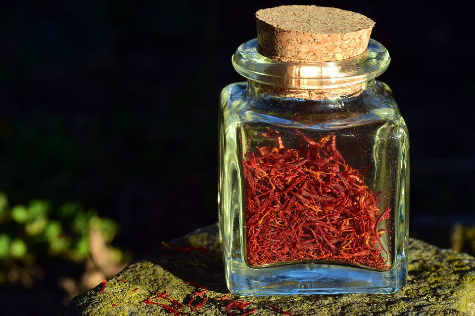 Saffron, Bottle, Small, Spice, Red, Aroma, Cook