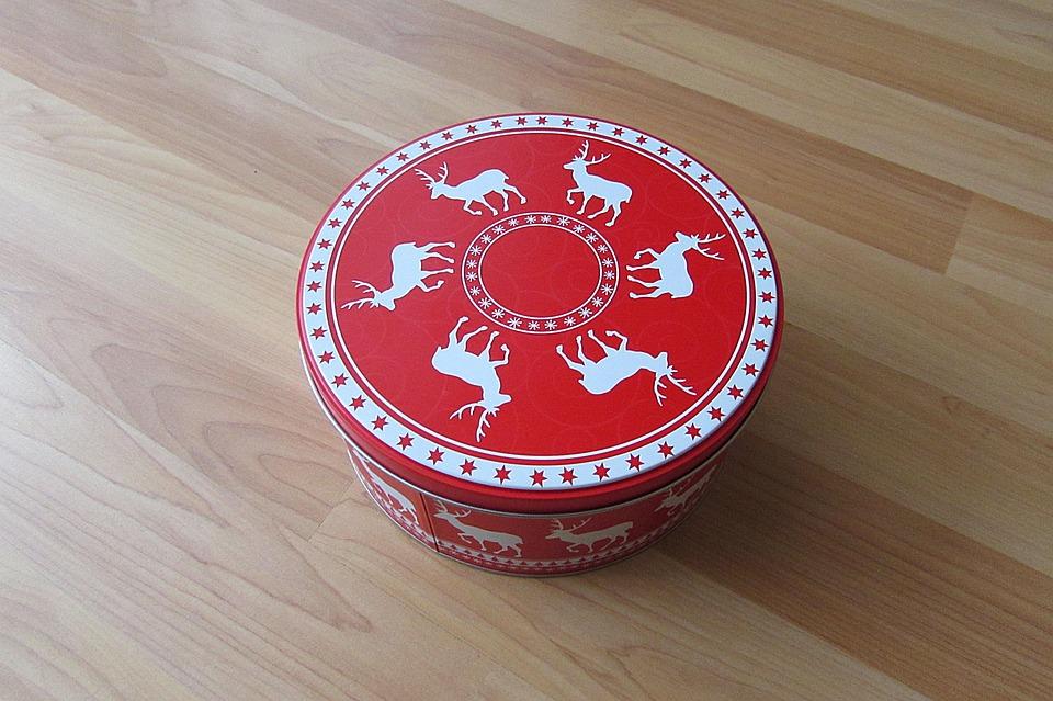 Cookie Jar, Box, Christmas Box