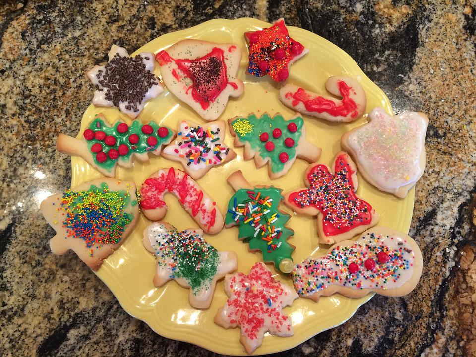 Christmas, Cookies, Plate, Kitchen, Holiday, Food