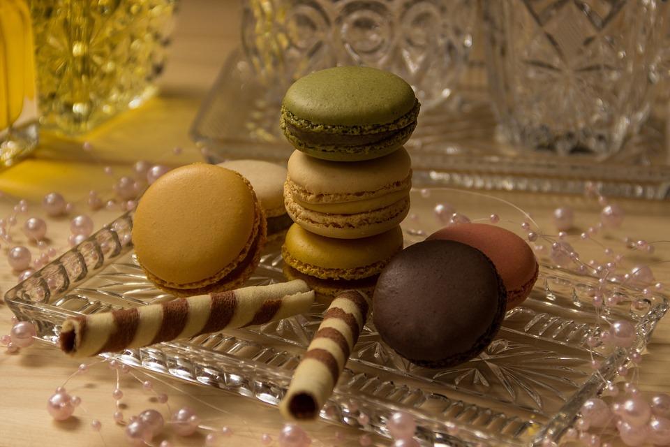 Macarons, Cookies, Close Up, Pastries, Sweetness
