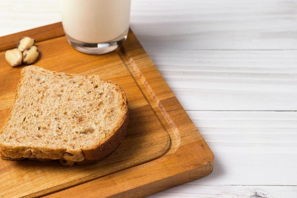 Whole Wheat Bread, Milk, Breakfast, Chestnut, Cookies