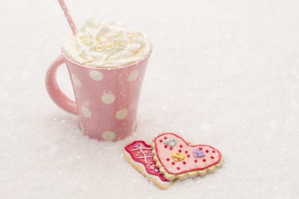 Valentine, Valentines Day, Winter, Snow, Cookies