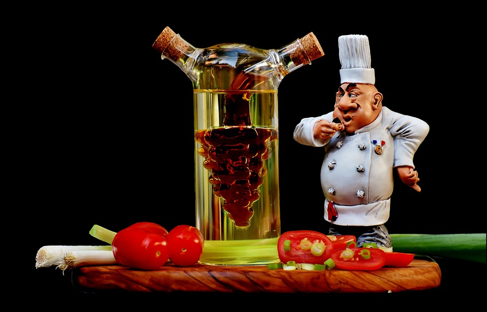 Cooking, Figure, Vinegar, Oil, Tomatoes, Onions