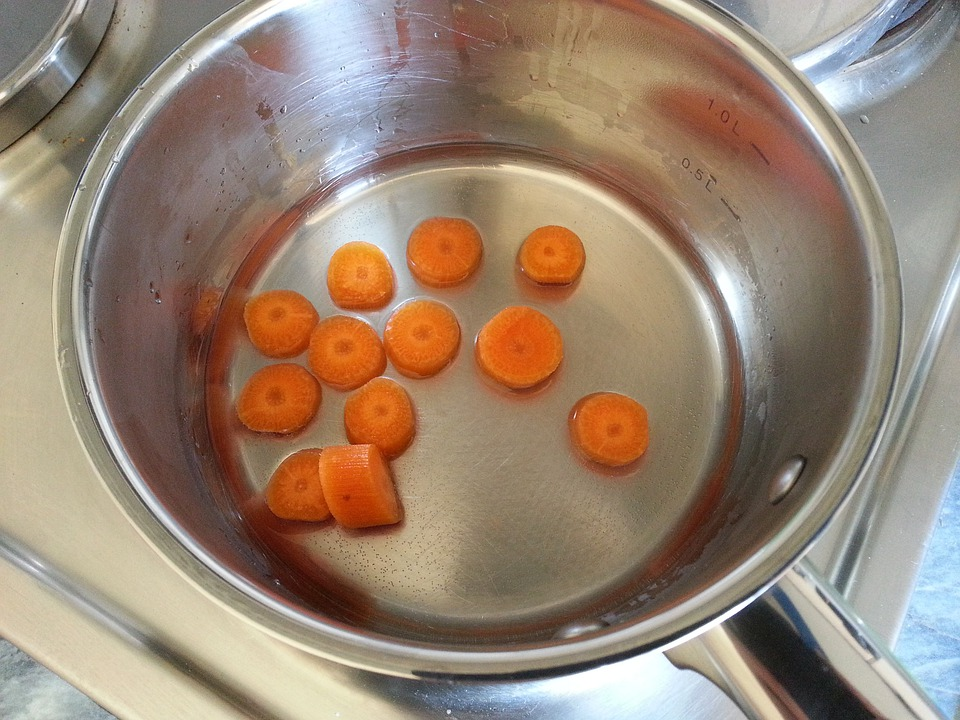 Carrots, Baby Food, Carrot, Cooking Pot, Cook