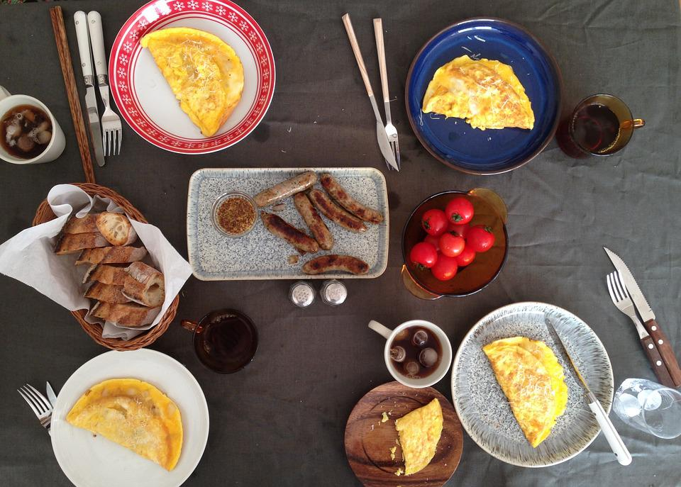 Brunch, Omurice, Table, Setting, Cooking