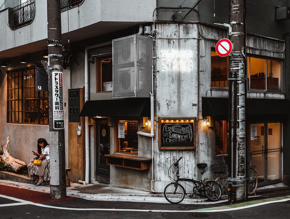 Cafe, Outside, Japan, Peaceful, Cool