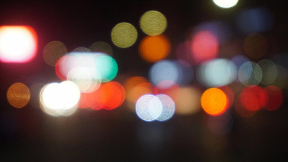 Spot, Cool Colors, Night, Bokeh