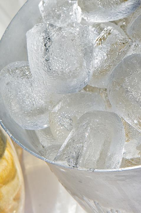 Ice Cubes, Cold, Cool, Frozen, Champagne Cooler