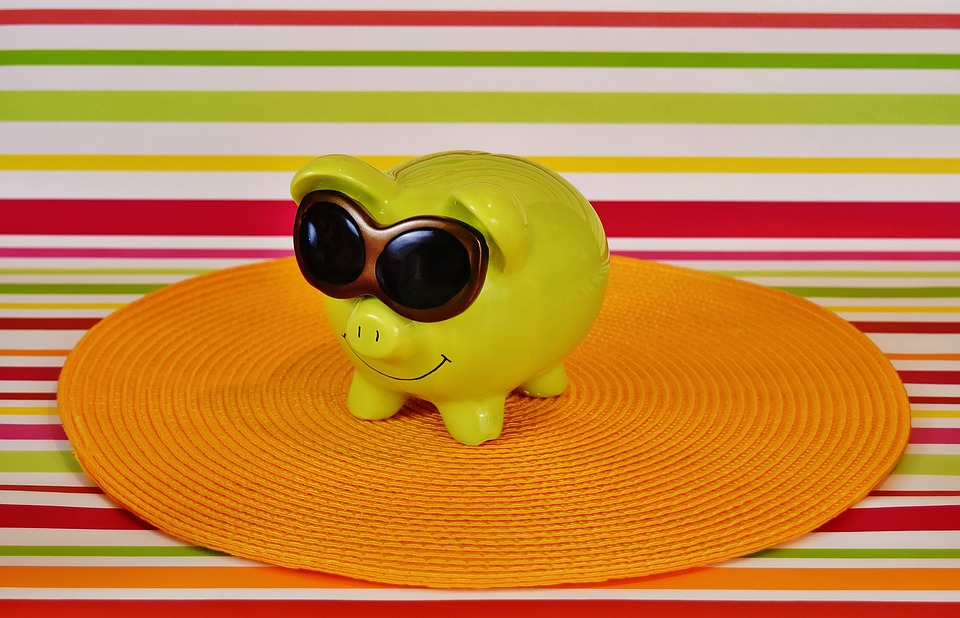 Piggy Bank, Cool, Funny, Green