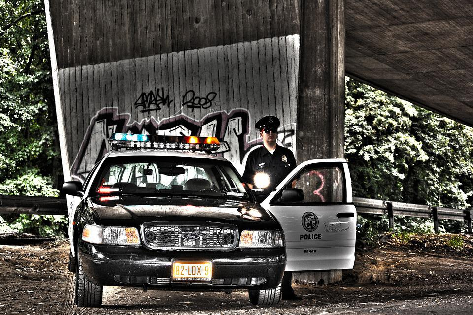 Police, Police Car, Siren, Cop, Image Editing, Club