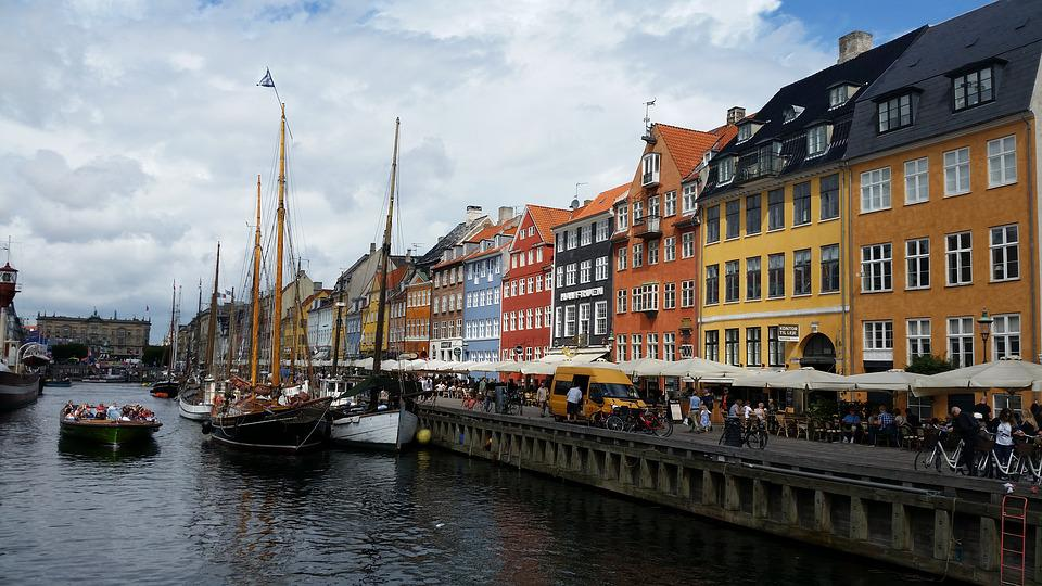 Denmark, Copenhagen, Nyhavn, Boats, Canal, Europe