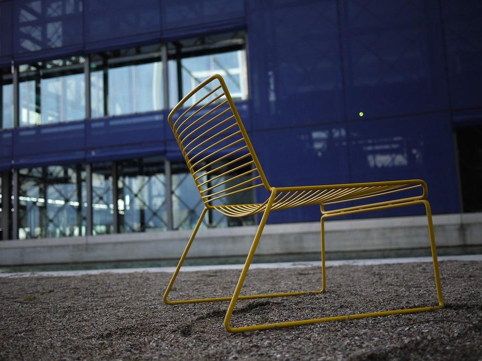 Chair, Yellow, Blue, Denmark, Copenhagen, Dr Byen