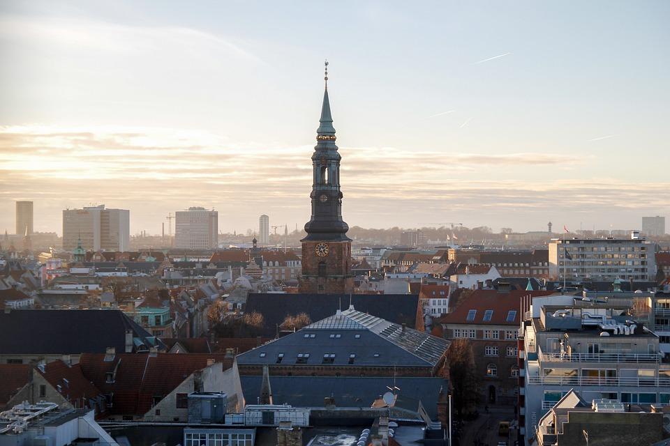 Copenhagen, Denmark, Architecture, Buildings, Sky, City