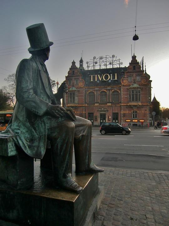 Copenhagen, Tivoli, Wrath, Sculpture, Tourism, Denmark