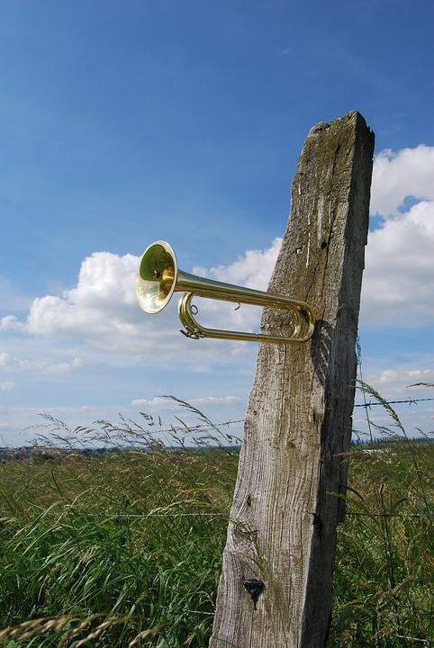 Trumpet, Cavalry Trumpet, Copper, Musical Instrument