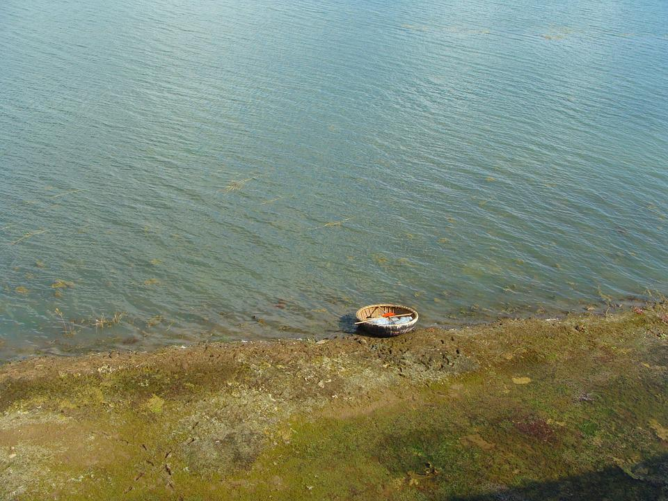 Coracle, Lake, Reservoir, River, Krishna, Backwaters