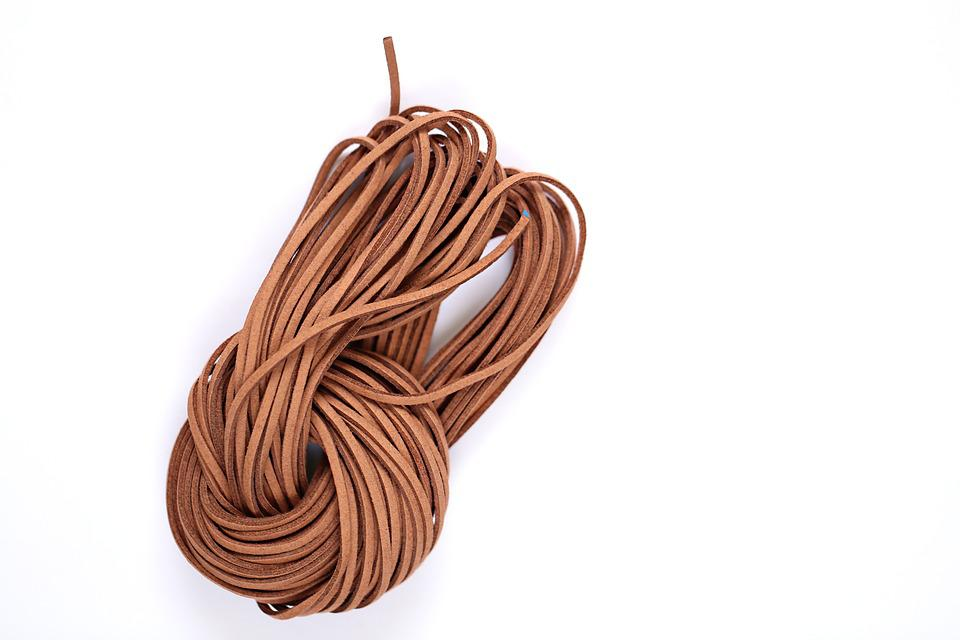 Leather Cord, Leather, Strip, Cord, Brown, Needlework