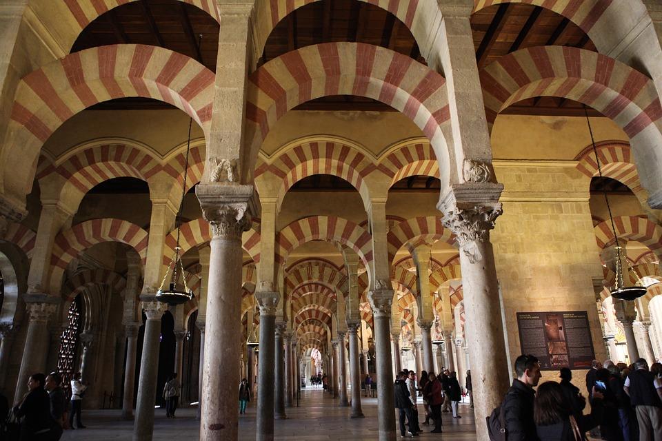 free photo cordoba architecture backlight mosque spain moorish max