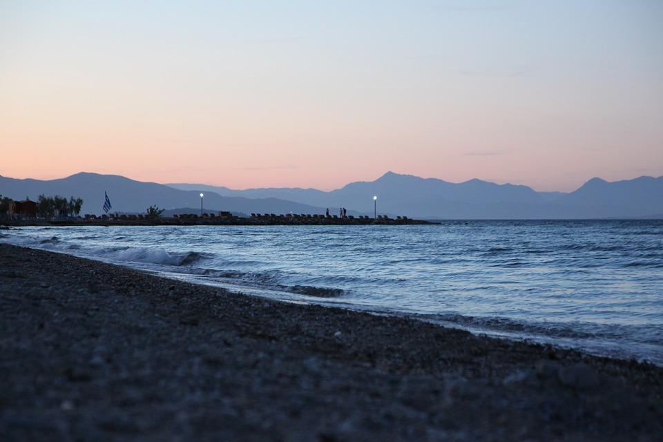 Greece, Corfu, Sea, Beach, Water, Blue, Light