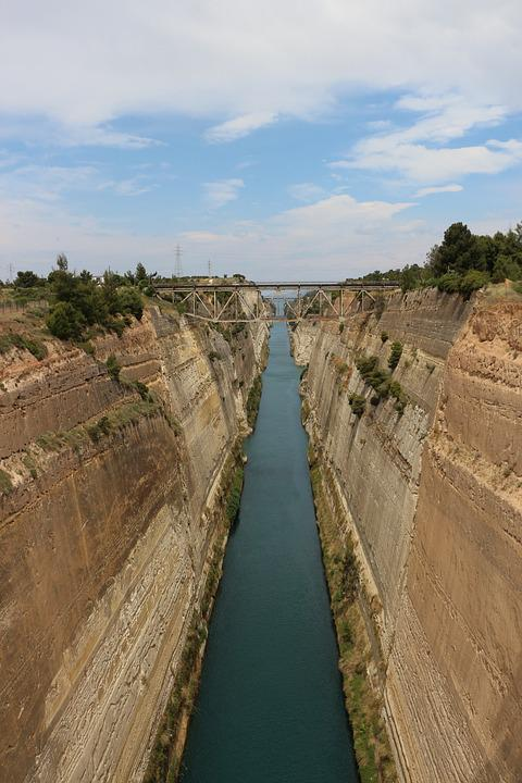 Corinth, Channel, Corinth Canal, Waterway, Greece