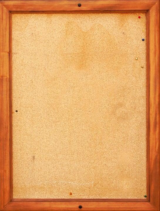 Bulletin Board, Pin Board, Cork, Cork Board