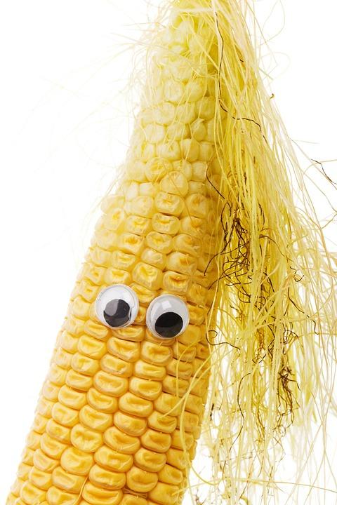 Character, Corn, Corncob, Cute, Diet, Eye, Face, Food