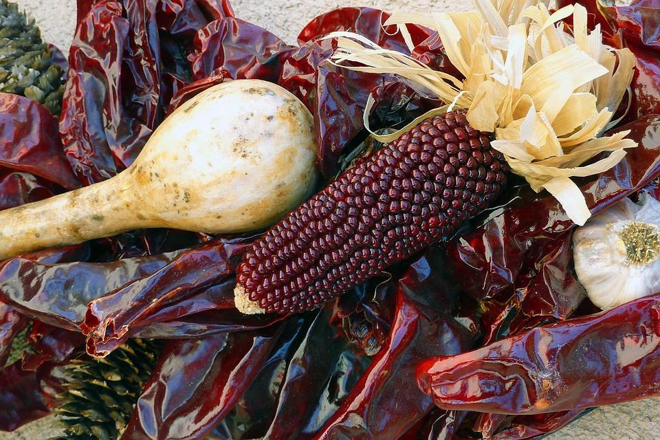 Decoration, Corn, Dried, Dry, Chilli, Pepper, Spicy