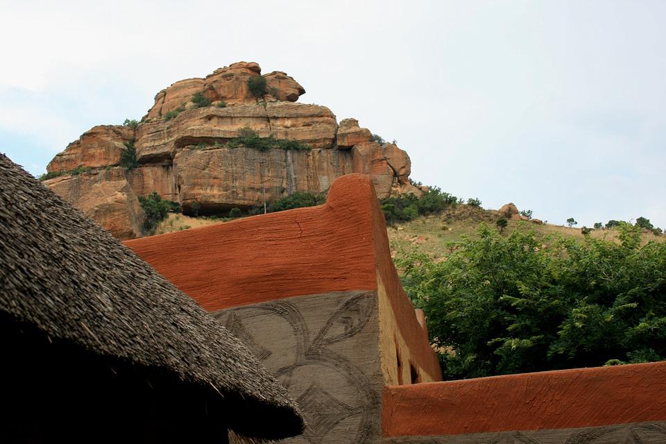Basotho Village, Corner Of Building, Adobe, Building
