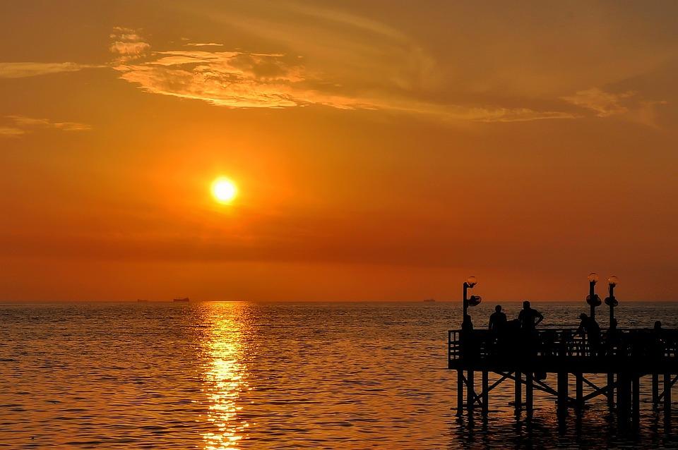 Sunset, Jeddah, Seaside, Coast, Corniche, Yellow, Mood